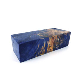 stab wood block maple burl 100058 blue