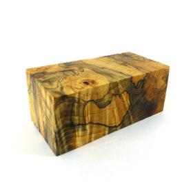 stab wood block natural resin 100086