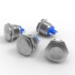 19mm raised flat and domed anti vandal switch