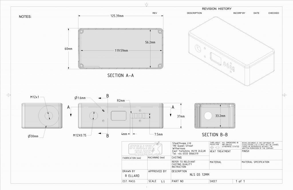 NLS G5 Enclosure Technical Drawing