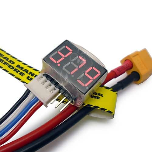 Red LED 1s to 6s voltage lipo display tester